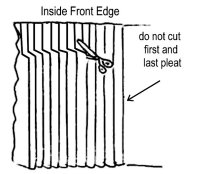 Trimming pleats