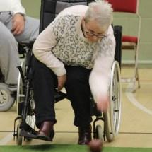 Wheelchair bowler