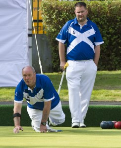 Billy Allan and Michael Simpson at Kelvingrove Lawn Bowls Centre