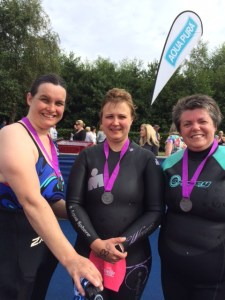 Kirsty Brunton with Cheryl Taylor and Sheila Herron