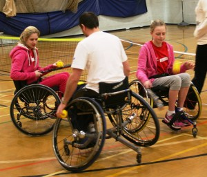Inclusive tennis session