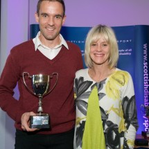 Alex Bird receiving the Russell Hogg Trophy