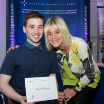 David Beattie receiving the Russell Hogg Bursary