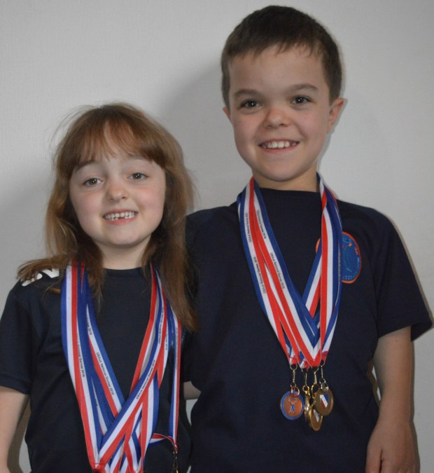 Head and shoulders of Finlay and Skye Davidson