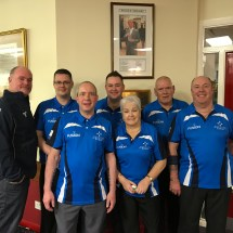 Group photo of bowlers at club