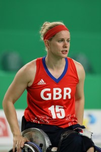 Robyn Love competing in the 2016 Paralympic Games