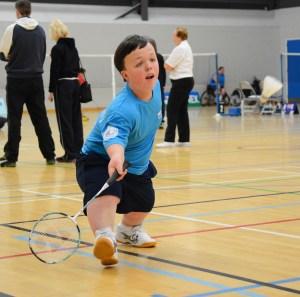 Ross Foley playing badminton