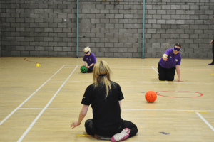 Goalball session underway at the festival
