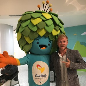 Stefan with Rio 2016 mascot