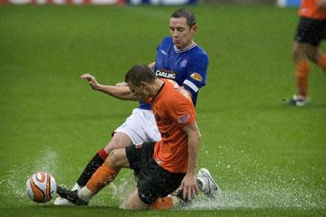 Tannadice - Utd vs Rangers - Rain