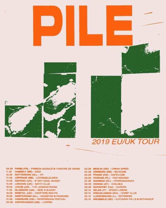 Tour poster artwork by Bradley Pinkerton