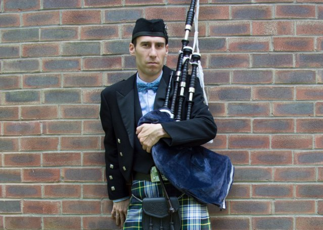 Cheadle Bagpiper Manchester Cheshire
