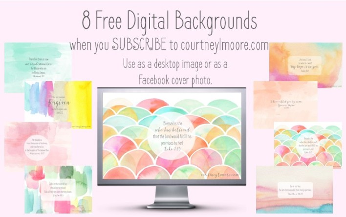 Backgrounds for Subscribing courtneylmoore.com