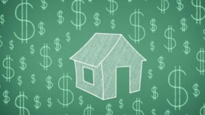 Home and Dollar signs graphic image