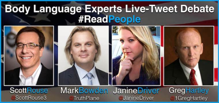 Janine Driver - Mark Bowden - Scott Rouse - Body Language Experts