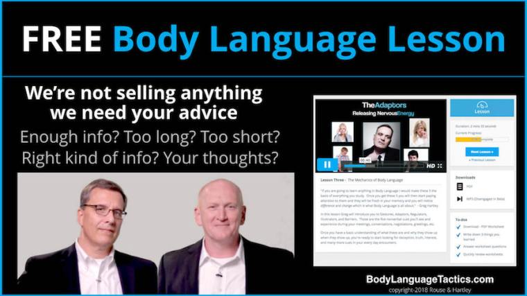 Free Body Language Lesson for you