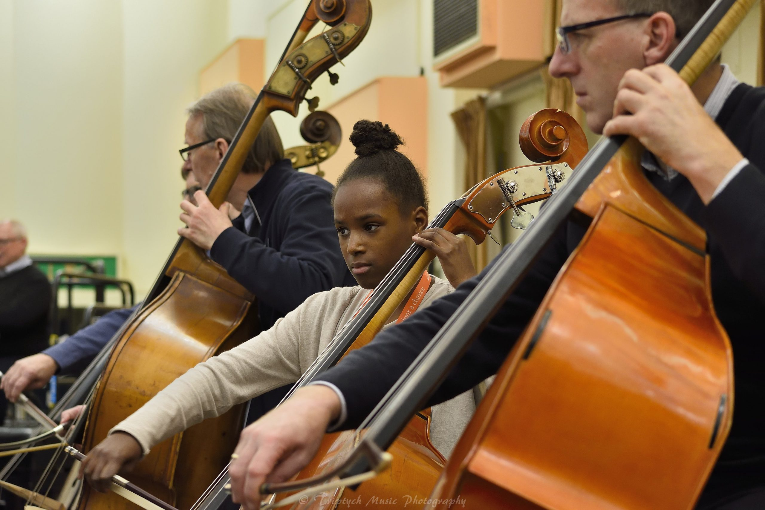 Award winners playing alongside BBC SO musicians at our 2016 Awards Day Credit Triptych Music Photography