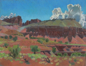 Torrey Utah, Capitol Reef, pastel, plein air, scotty Mitchell