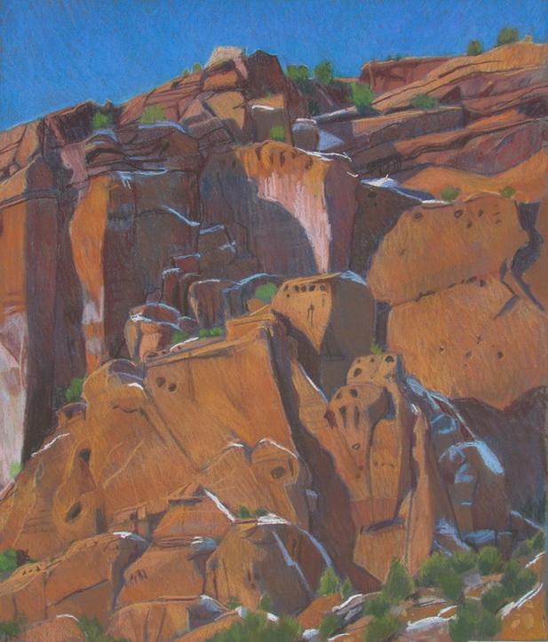 Long Canyon, redrock, Utah, GSENM, pastel, Scotty Mitchell