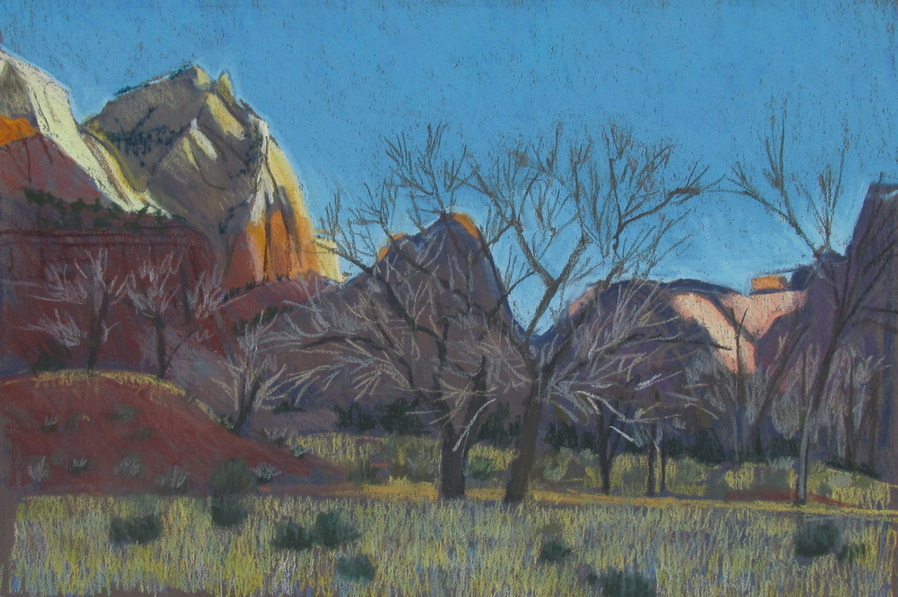 Zion National Park, pastel landscape, Scotty Mitchell