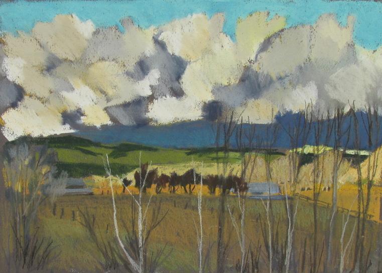 Boulder Mountain, Utah, Clouds,pastel landscape, Scotty Mitchell