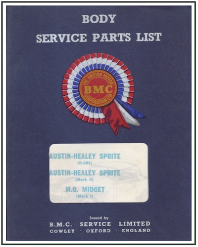 MG MIDGET MK I BODY PARTS LIST PDF