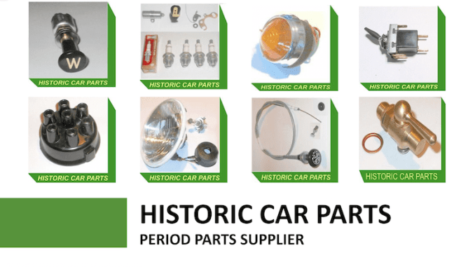Historic Car Parts Scottys Supplier Library