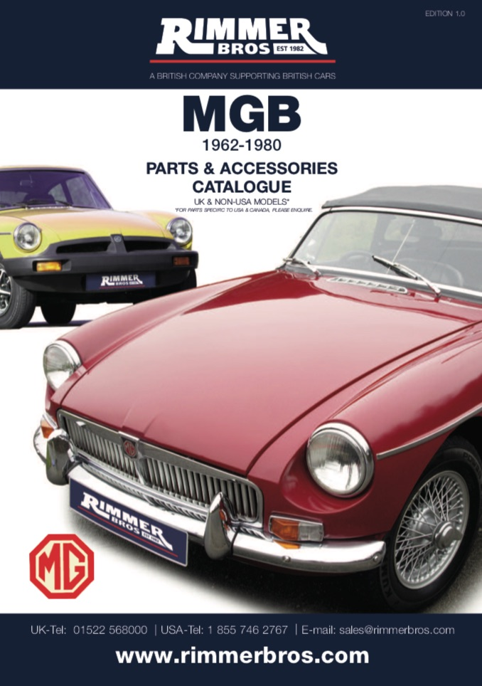 MGB Parts GUIDE - RIMMER on SCOTTYS Supplier Library PIC1