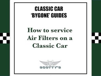 How to service Air Filters on a Classic Car
