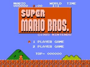 Super Mario Bros-NES Start Screen