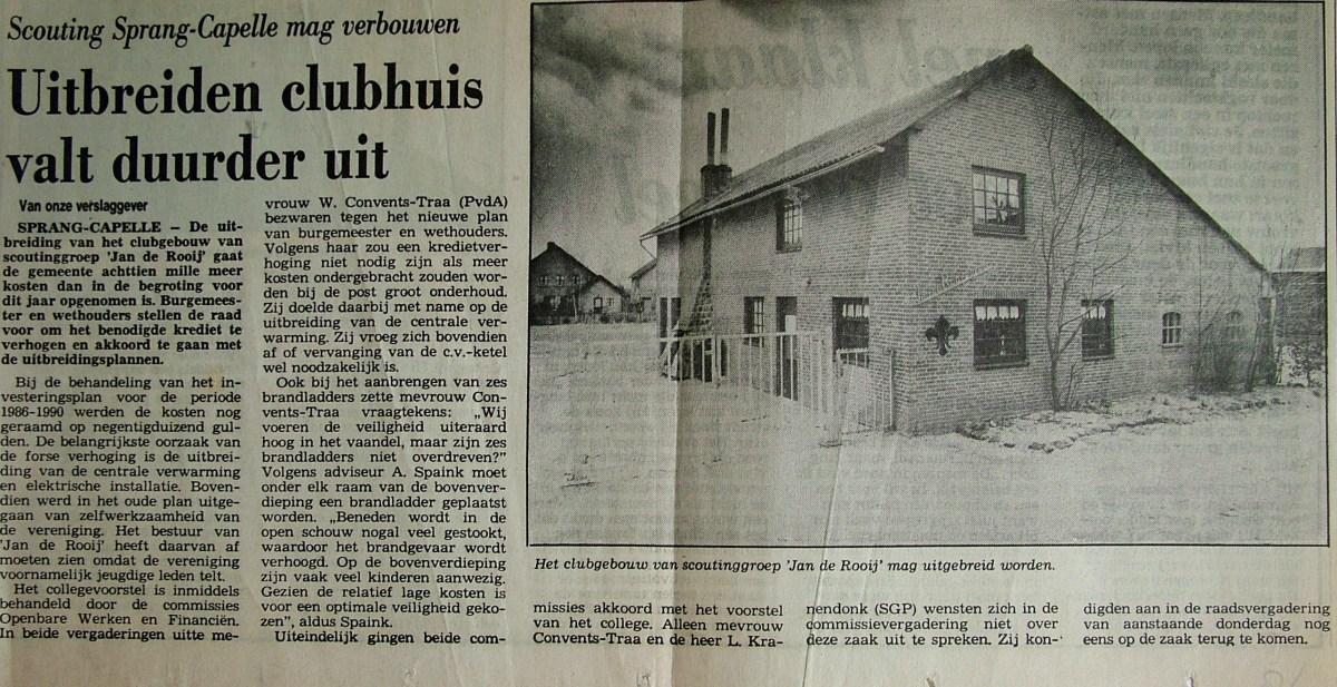 Krantenknipsel Verbouwing Troephuis de Sprankel