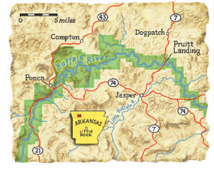 Ponca Arkansas Map.Hike The Buffalo River Trail In Arkansas Scouting Magazine