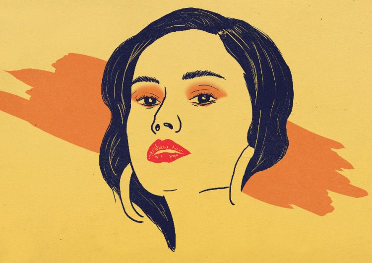 The orange eyeshadow look is our favorite universally flattering trend