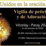 Unidos en la oración, Vezelay/Paray 2020