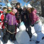 Lobatos disfrutando de la nieve!