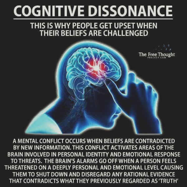 Image result for cognitive dissonance""