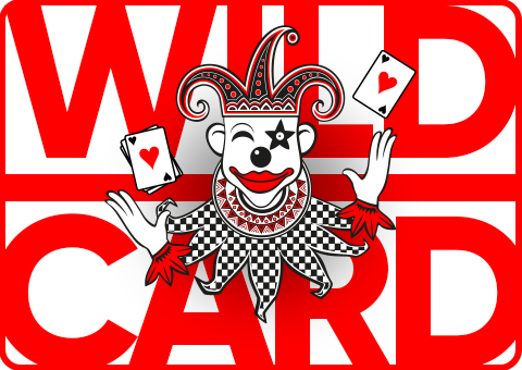 Banner Wild Card FBM mit Clown