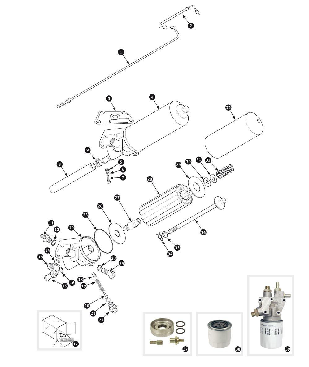 Parts for jaguar xk120 xk140 and xk150 oil filter xk150 sc 1970 triumph spitfire wiring diagram