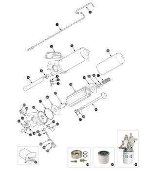 Parts for Jaguar XK120, XK140 and XK150 • Oil filter  XK150  SC Parts Group Ltd