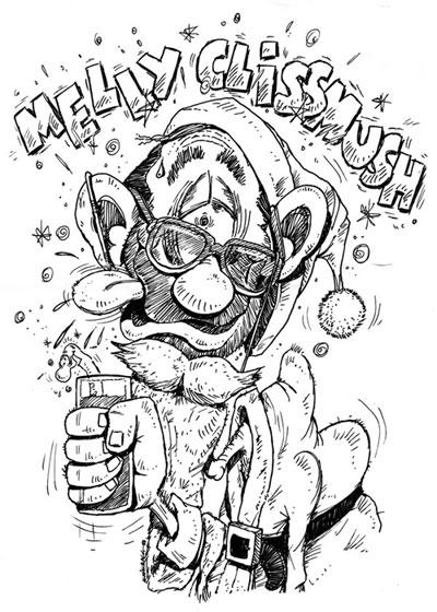 Cartoon Christmas Cards By Scraggie