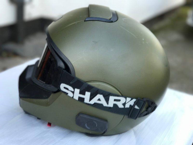 Shark Vancore Blank - Matt Green Motorcycle Motorbike Helmet-1