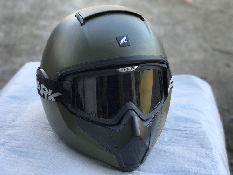 Shark Raw Blank - Matt Green Motorcycle Motorbike Helmet