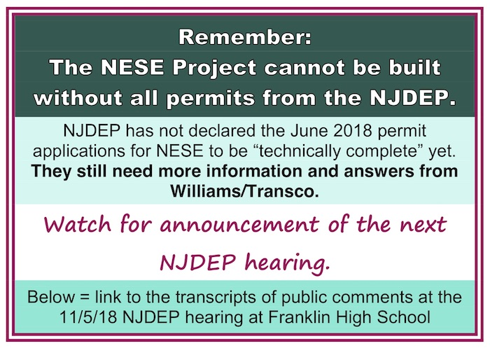 Another NJDEP hearing pending