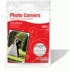 Photo Corners White