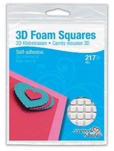 3D Foam Squares White Mix