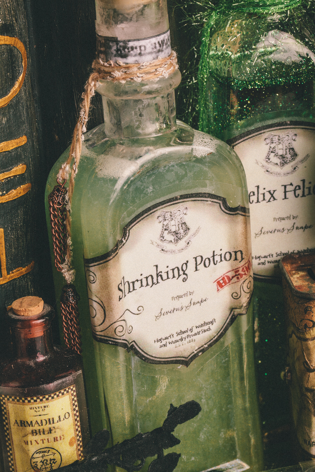 Diy Harry Potter Potions For Halloween Shrinking Potion