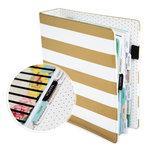 Heidi Swapp - Memory Planner - Planner - Large - Gold Foil - Stripes - Undated
