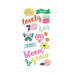 We R Memory Keepers - Flower Girl Collection - Puffy Stickers