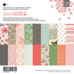 BasicGrey - Dear Heart Collection - 6 x 6 Paper Pad