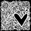 The Crafter's Workshop - 6 x 6 Doodling Templates - Love Frame